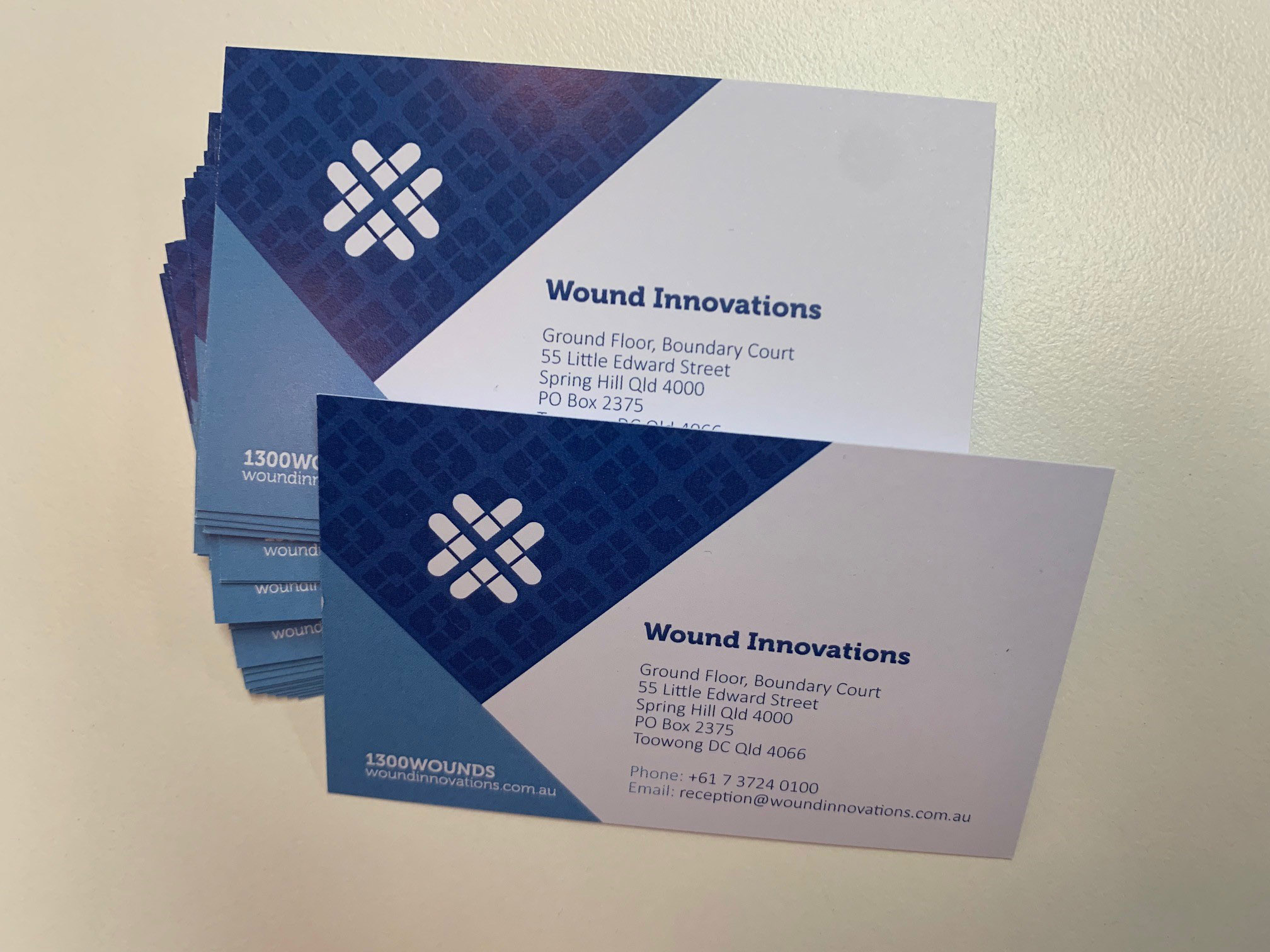 Digital Printed Business Cards Wound Innovations