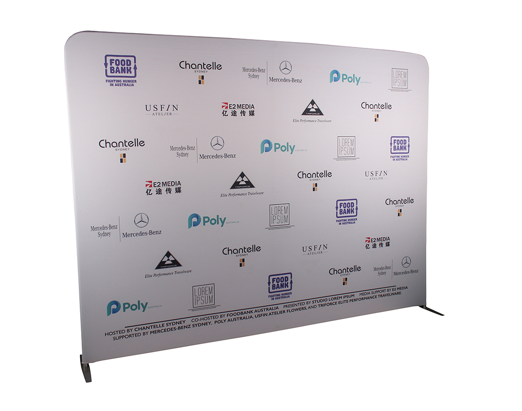 Media Wall Zip Up Side Exhibition Wall Fabric