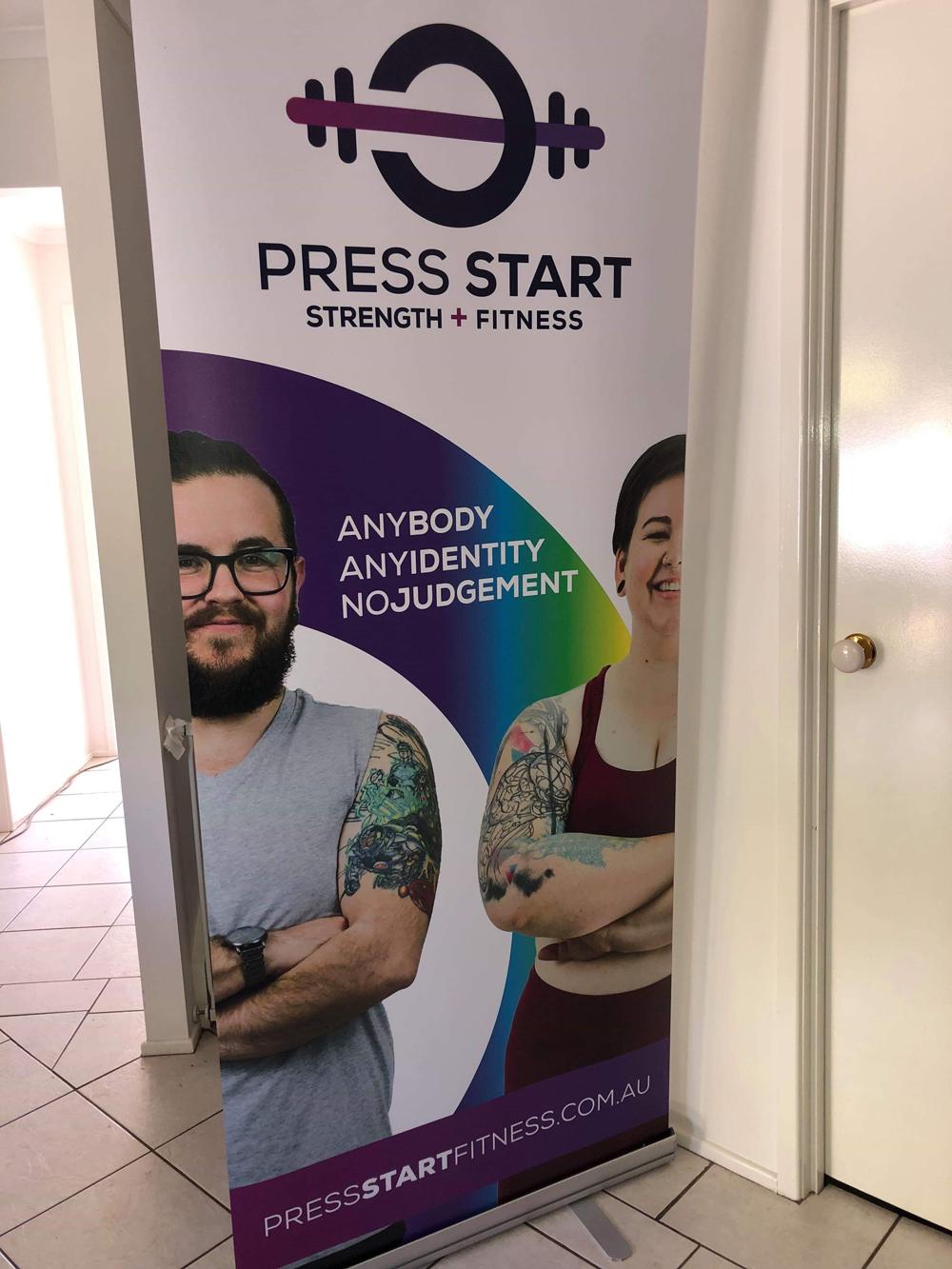 Pull Up Banner Press Start Fitness
